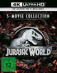 Jurassic World - 5-Movie Collection (Ultra HD Blu-ray & Blu-ray), 5 Ultra HD Blu-rays und 5 Blu-ray Discs