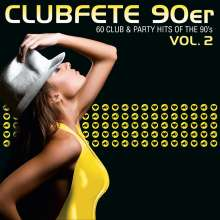 Clubfete 90er, Vol.2 (60 Club & Party Hits Of The 90's), 3 CDs