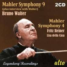 Gustav Mahler (1860-1911): Symphonien Nr.4 & 9, 2 CDs