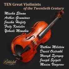 Ten Great Violinists of the Twentieth Century, 10 CDs