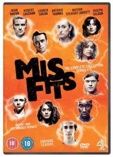 Misfits Season 1-5 (Complete Collection) (UK Import), 12 DVDs
