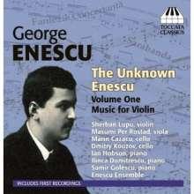 George Enescu (1881-1955): The Unknown Enescu Vol.1 - Musik für Violine, CD
