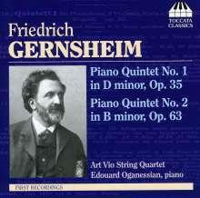Friedrich Gernsheim (1839-1916): Klavierquintette 1 & 2, CD