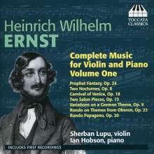 Heinrich Wilhelm Ernst (1814-1865): Sämtliche Werke für Violine & Klavier Vol.1, CD