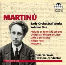 Bohuslav Martinu (1890-1959): Frühe Orchesterwerke Vol.1, CD
