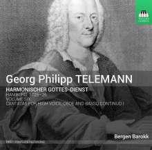 Georg Philipp Telemann (1681-1767): Harmonischer Gottesdienst Vol.6 (Kantaten für hohe Stimme, Oboe, Bc / Hamburg 1725/26), CD