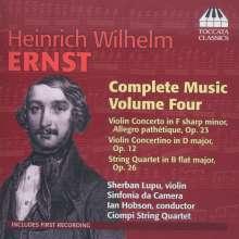 Heinrich Wilhelm Ernst (1814-1865): Sämtliche Werke Vol.4, CD
