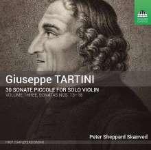 Giuseppe Tartini (1692-1770): Sonaten für Violine solo Nr.13-18, CD