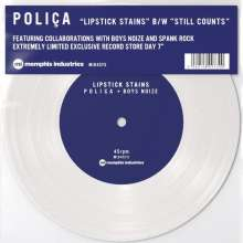 "Poliça: Lipstick Stains/Still Counts (Limited-Edition) (White Vinyl), Single 7"""
