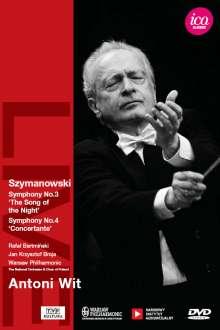 Karol Szymanowski (1882-1937): Symphonien Nr.3 & 4, DVD