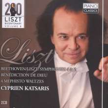 Ludwig van Beethoven (1770-1827): Symphonien Nr.4 & 5 (Klavierfassung von Liszt), 2 CDs