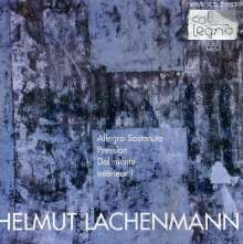Helmut Lachenmann (geb. 1935): Kammermusik, CD