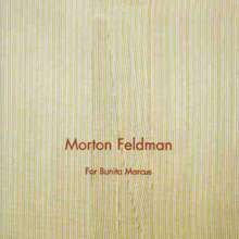 Morton Feldman (1926-1987): For Bunita Marcus f.Klavier, CD