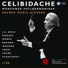 Celibidache-Edition Vol.4 - Geistliche Musik & Oper, 11 CDs