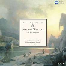 Ralph Vaughan Williams (1872-1958): Symphonien Nr.1-9, 5 CDs