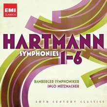 Karl Amadeus Hartmann (1905-1963): Symphonien Nr.1-6, 2 CDs