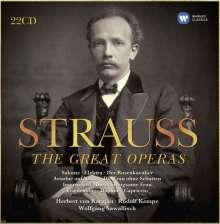Richard Strauss (1864-1949): Die großen Opern, 22 CDs