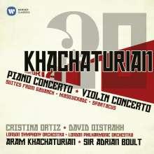 Aram Khachaturian (1903-1978): Violinkonzert, 2 CDs