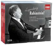 Legendary Rubinstein! - Chopin, 3 CDs