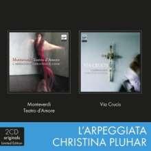 Claudio Monteverdi (1567-1643): Teatro d'amore & Via Crucis, 2 CDs