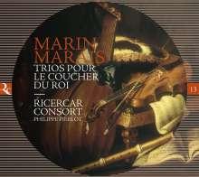 """Marin Marais (1656-1728): Pieces en Trio """"Trios Pour Le Coucher Du Roi"""", 2 CDs"""