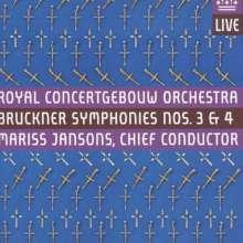 Anton Bruckner (1824-1896): Symphonien Nr.3 & 4, 2 Super Audio CDs