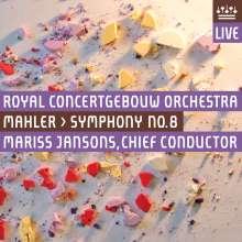 Gustav Mahler (1860-1911): Symphonie Nr.8, 1 CD und 1 DVD