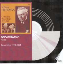 Ignaz Friedman - Recordings 1923-1941, 6 CDs