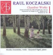 Raul Koczalski (1885-1948): Kammermusik Vol.1, CD