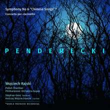 """Krzysztof Penderecki (1933-2020): Symphonie Nr.6 """"Chinese Songs"""" für Bariton & Orchester, CD"""