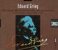 Edvard Grieg (1843-1907): Lieder in historischen Interpretationen, 3 CDs