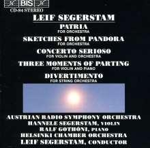 Leif Segerstam (geb. 1944): Concerto Serioso f.Violine & Orchester, CD