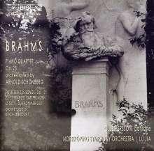 Johannes Brahms (1833-1897): Klavierquartett op.25 (in der Bearbeitung von Schönberg), CD
