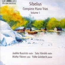 Jean Sibelius (1865-1957): Sämtliche Werke für Klaviertrio Vol.1, CD