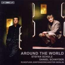 Daniel Schnyder (geb. 1961): Around the World für Sopransaxophon,Bassposaune & Klavier, CD