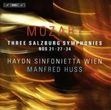 Wolfgang Amadeus Mozart (1756-1791): Symphonien Nr.21,27,34, CD