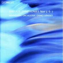 Jean Sibelius (1865-1957): Symphonien Nr.3,6,7, SACD