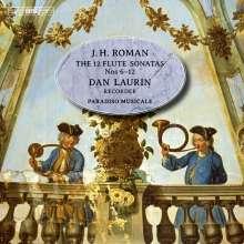 Johan Helmich Roman (1694-1758): Sonaten Nr.6-12 für Flöte & Bc, Super Audio CD
