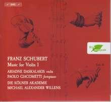 Franz Schubert (1797-1828): Werke mit Violine Vol.1, Super Audio CD