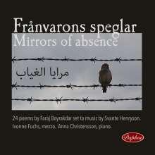 Svante Henryson (geb. 1963): Mirrors of Absence, CD