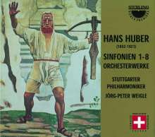 Hans Huber (1852-1921): Symphonien Nr.1-8, 5 CDs