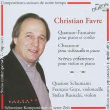 Christian Favre (geb. 1955): Quatuor-Fantaisie für Klavierquartett, CD