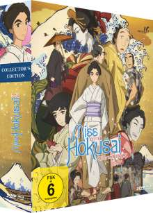 Miss Hokusai (Collector's Edition) (Blu-ray & DVD in Holz-Box), 1 Blu-ray Disc und 1 DVD