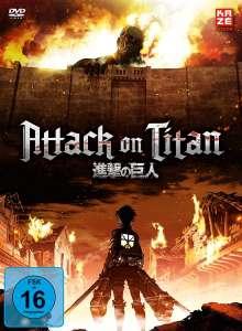 Attack on Titan Staffel 1 (Gesamtausgabe), 4 DVDs