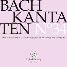Johann Sebastian Bach (1685-1750): Bach-Kantaten-Edition der Bach-Stiftung St.Gallen - CD 34, CD