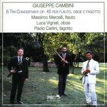 Giuseppe Maria Cambini (1746-1825): Trios op.45 Nr.1-6 für Flöte,Oboe,Fagott, CD
