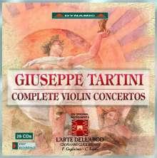 Giuseppe Tartini (1692-1770): Sämtliche Violinkonzerte, 29 CDs