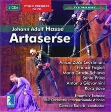 Johann Adolph Hasse (1699-1783): Artaserse, 3 CDs