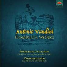 Antonio Vandini (1690-1778): Sämtliche Werke für Cello, CD