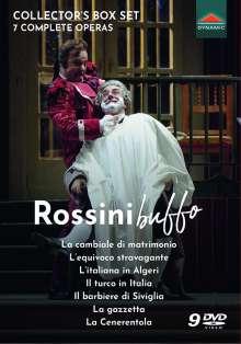 Gioacchino Rossini (1792-1868): 7 Complete Operas - Rossini buffo, 9 DVDs